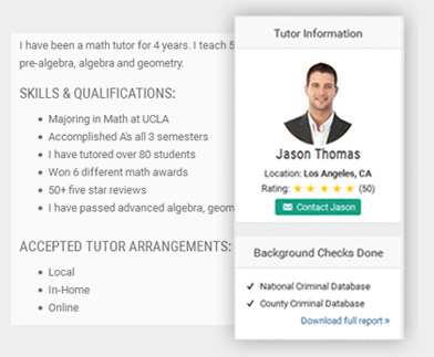 homeschool tutor bio